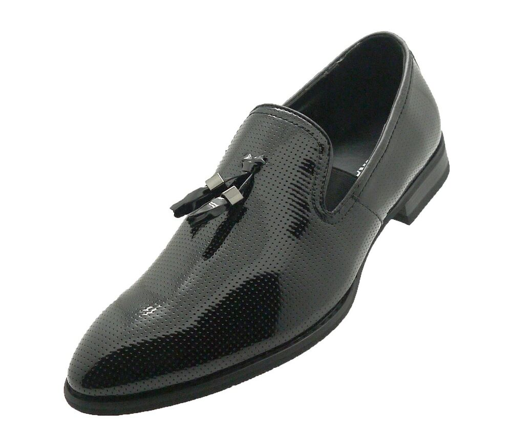 mens franazi patent leather dress shoes formal tuxedo