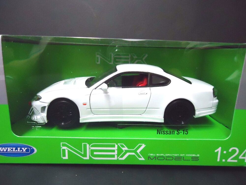 welly nissan 240sx silvia s15 white 22485 1 24 ebay. Black Bedroom Furniture Sets. Home Design Ideas