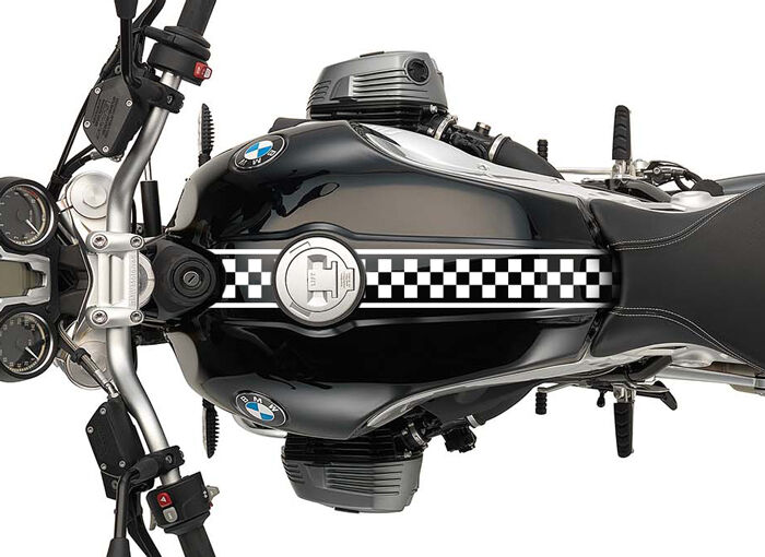 X Motorcycle Checkered Racing Decals Stickers Cafe Racer - Custom motorcycle stickers racing