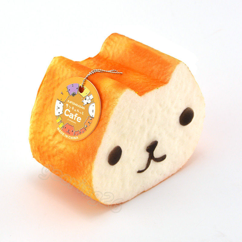 1PCS 10CM Jumbo Squishy Kapibarasan Toast Slow Rising Bread Cellphone Strap Q eBay