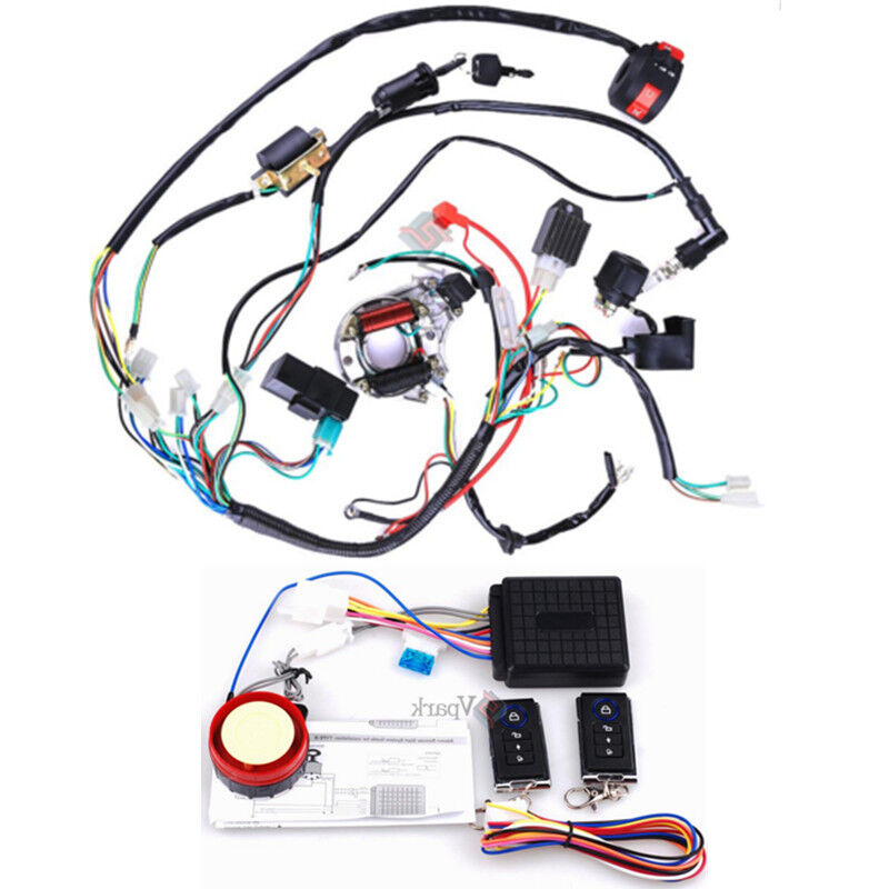 electrics atv stator 50 70 110 125cc coil cdi wiring harness remote start switch | ebay atv ignition switch wiring manual #10