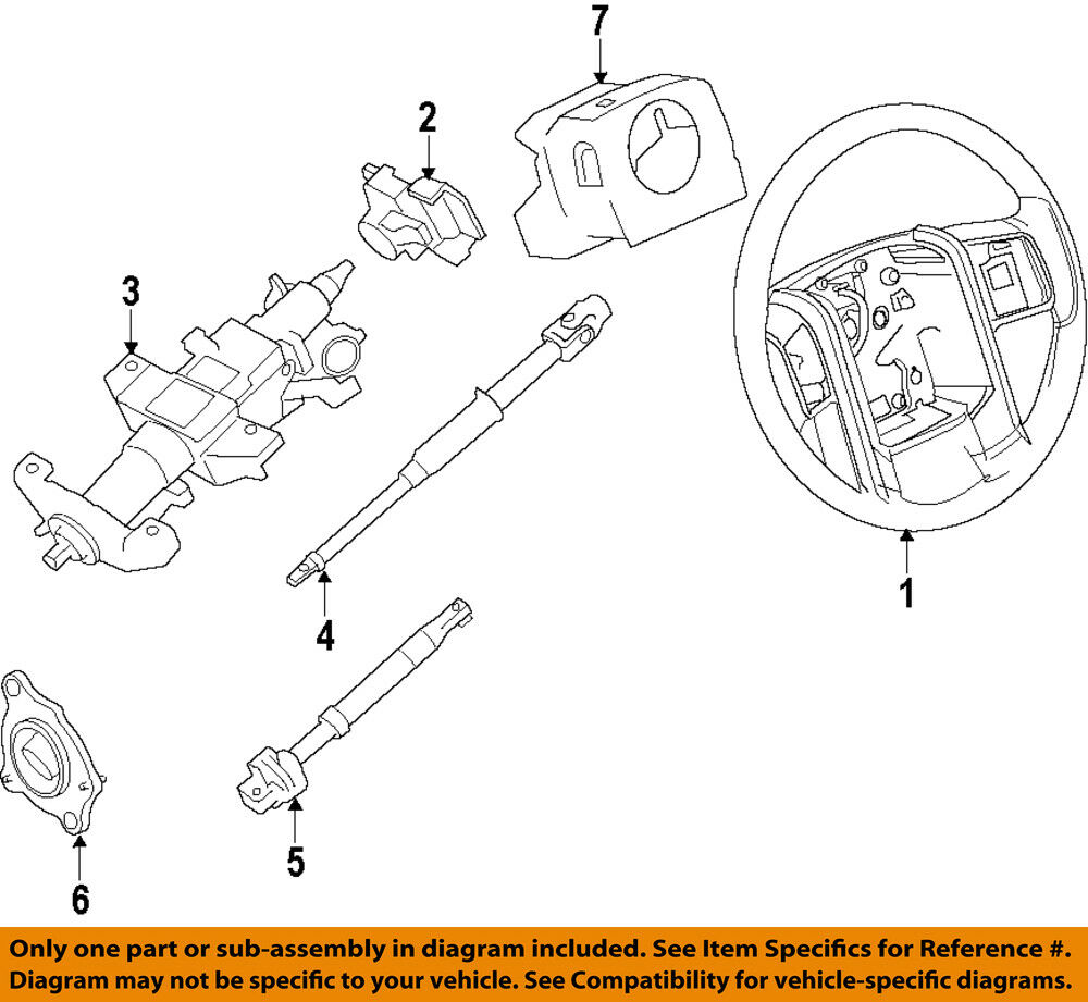 details about ford oem 11-13 f-250 super duty steering column-housing  dc3z3f791ca