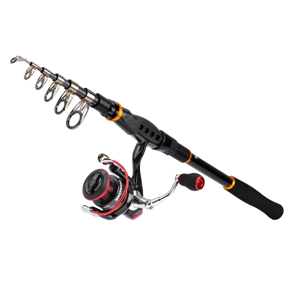 Kastking spinning combo telescopic fishing rod and reel for Fishing rods and reels