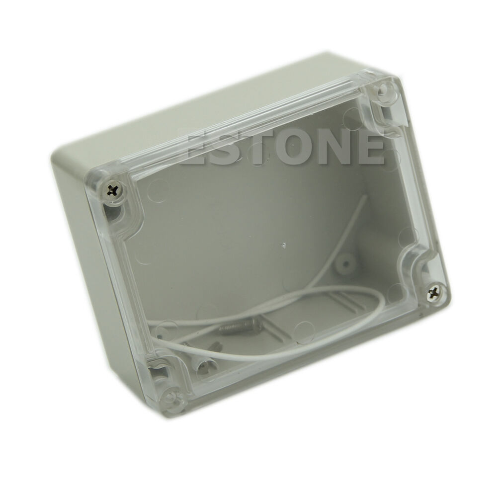 Plastic Waterproof Clear Cover Electronic Project Box