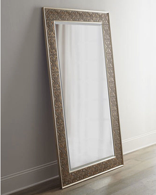 Large Silver Champagne Leaf Wall Floor Mirror Xl 70 Ebay