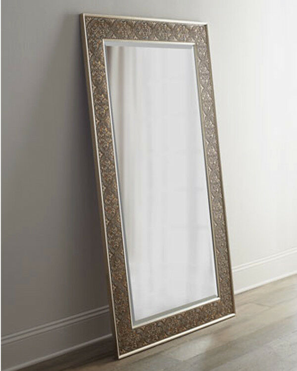 Large silver champagne leaf wall floor mirror xl 70 ebay for Large silver wall mirror