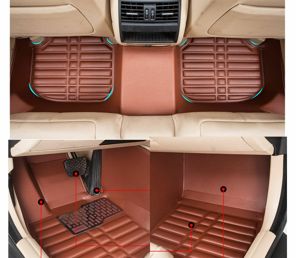 car floor mats front rear liner auto waterproof for hyundai tucson 2015 2016 ebay. Black Bedroom Furniture Sets. Home Design Ideas
