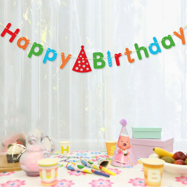 3 metres happy birthday banner garland for birthday party for Home decorations for birthday party