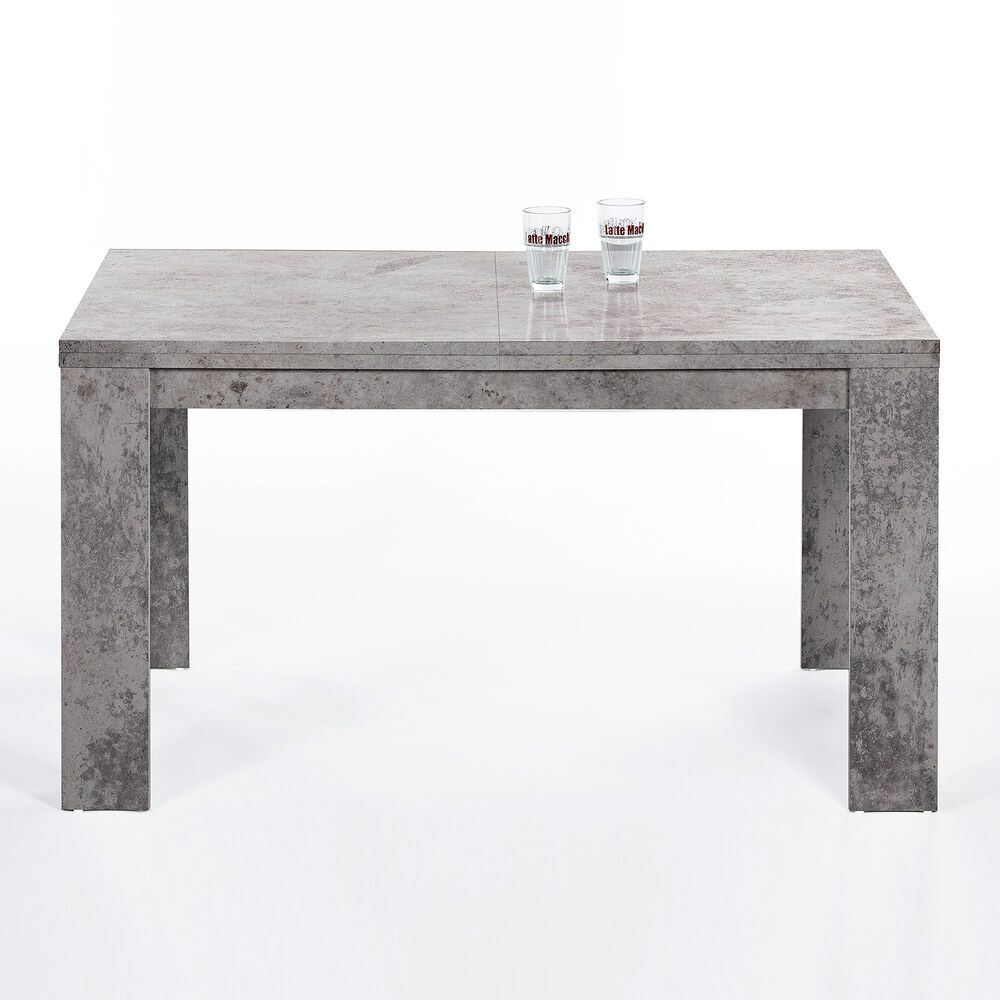 esstisch foxy esszimmertisch tisch in beton optik ausziehbar 140 200x80 cm ebay. Black Bedroom Furniture Sets. Home Design Ideas
