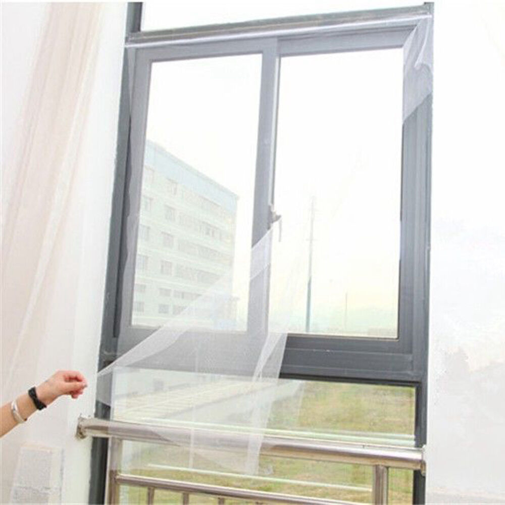 Magnetic window mesh door curtain snap net guard mosquito for Window mesh screen