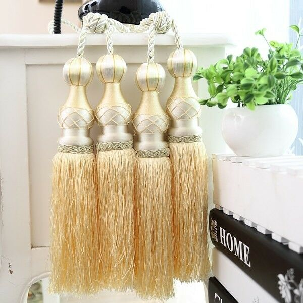 "Large Tassels Home Decor: 11"" Luxury Double Head Curtain Tassel Tieback Holdback"