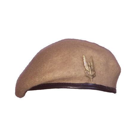 img-Reproduction SAS Special Air Service Sand Beret + Metal Cap Badge - All Sizes