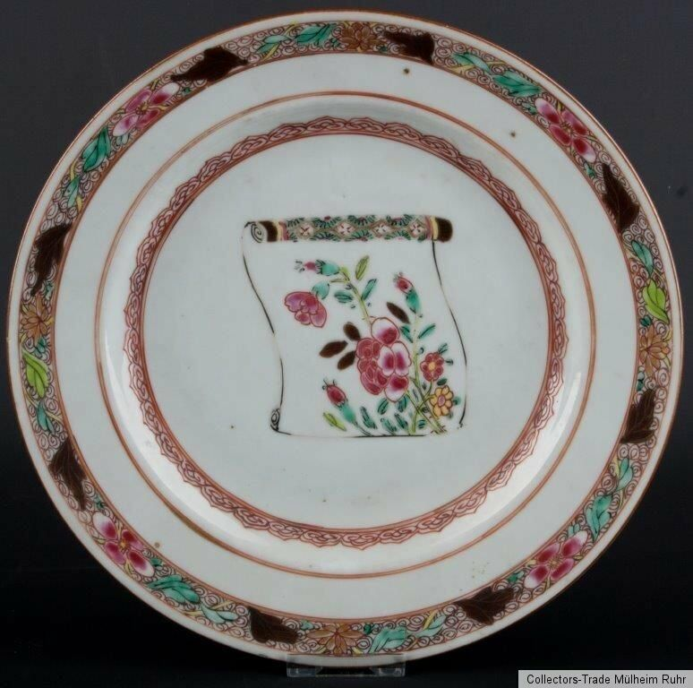 China 18 jh teller a chinese famille rose plate qing for Piatto cinese