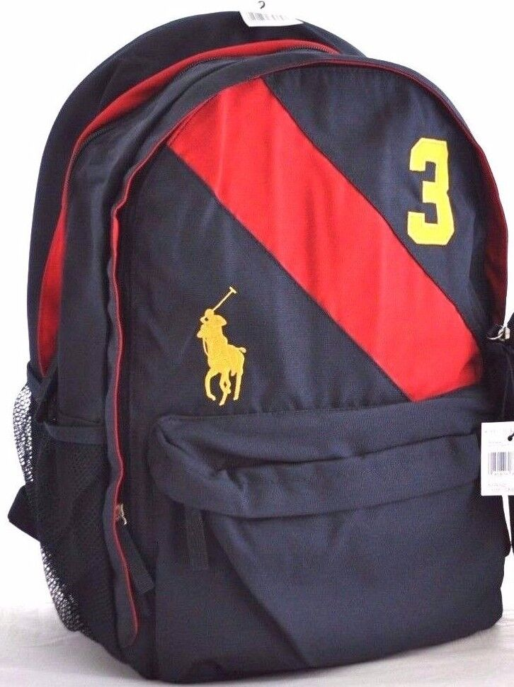 NWT POLO RALPH LAUREN BIG PONY SASH BOY BACKPACK SCHOOL ...