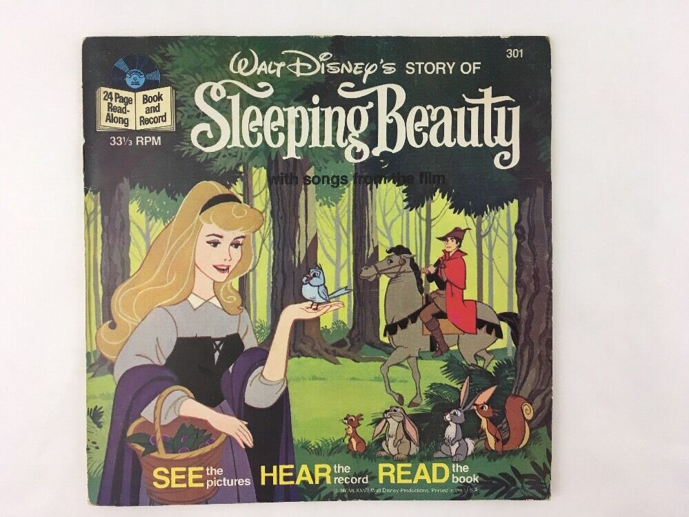 Vintage Sleeping Beauty 1977 301 Disney Read Along Book