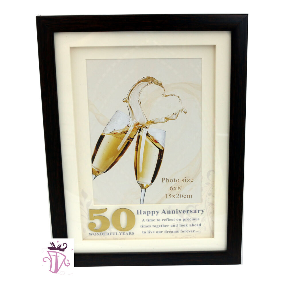 List Of 50th Wedding Anniversary Gifts : 50th Wedding Anniversary Gift 6 8 in Timber Photo Frame Anniversary ...