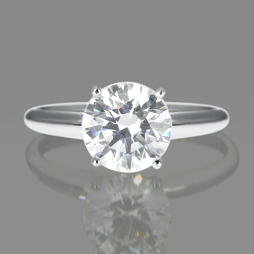 1 Carat D VS2 Halo Diamond Engagement Ring Round Cut 14K White Gold Enhanced