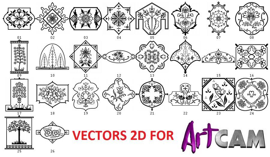 ArtCAM KIT 6500 DXF Laser Vectors Cutting CNC Router