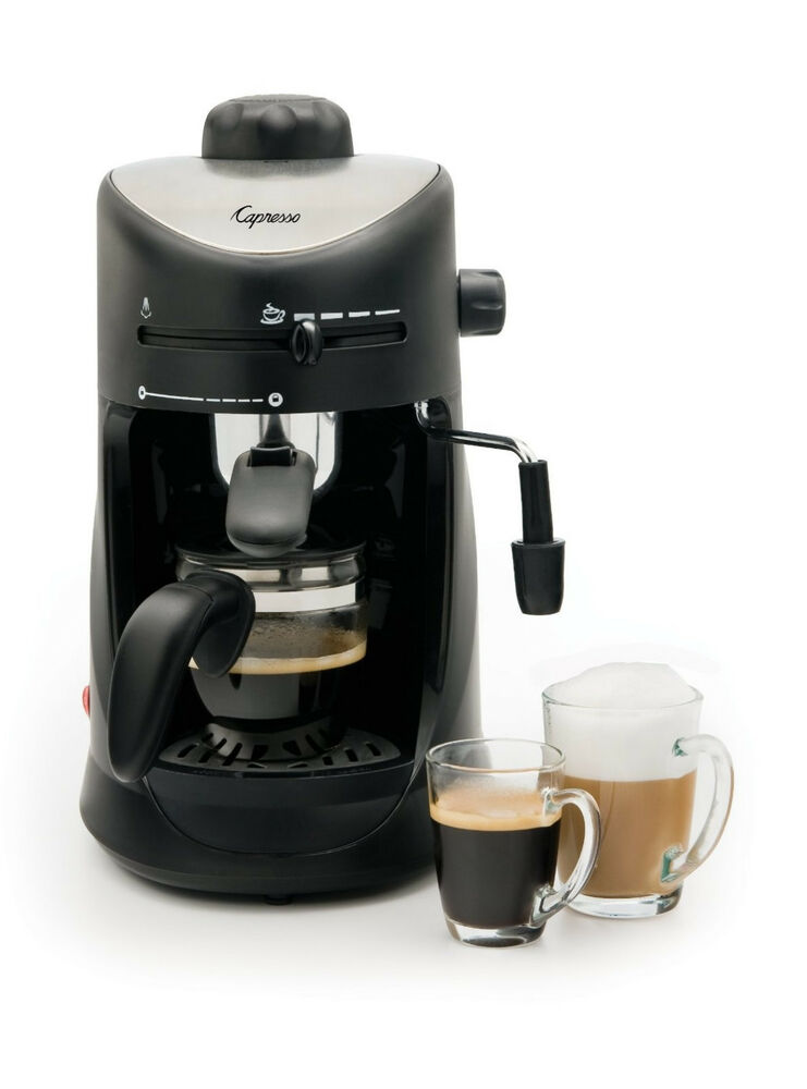 Coffee Machine Espresso Maker Latte Gourmet Steam Frother 4Cup Kitchen Appliance 794151401693 | eBay