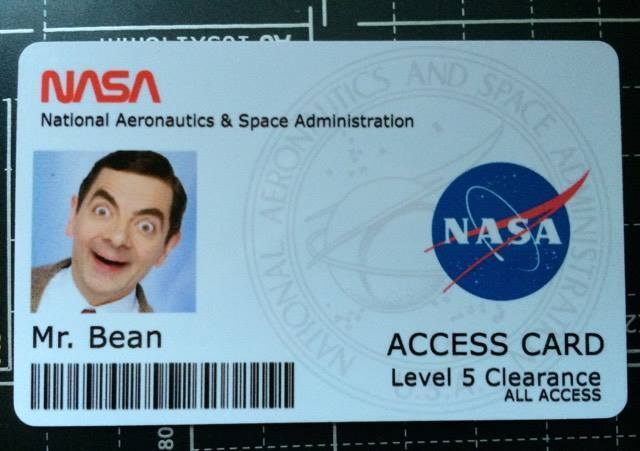Novelty NASA ID card With your photo & information ...