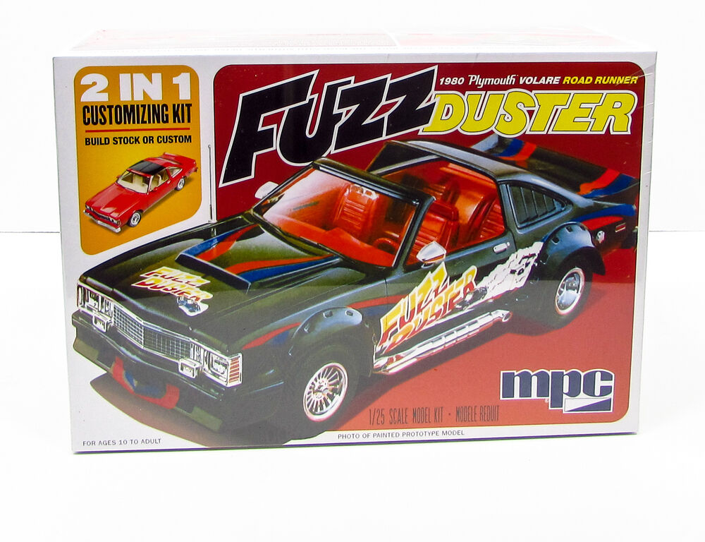 fuzz duster 1980 plymouth volare road runner mpc 843 1 25 car model kit ebay. Black Bedroom Furniture Sets. Home Design Ideas