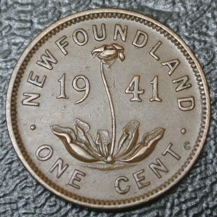 Old Canadian Coin 1941 Newfoundland One Cent George Vi