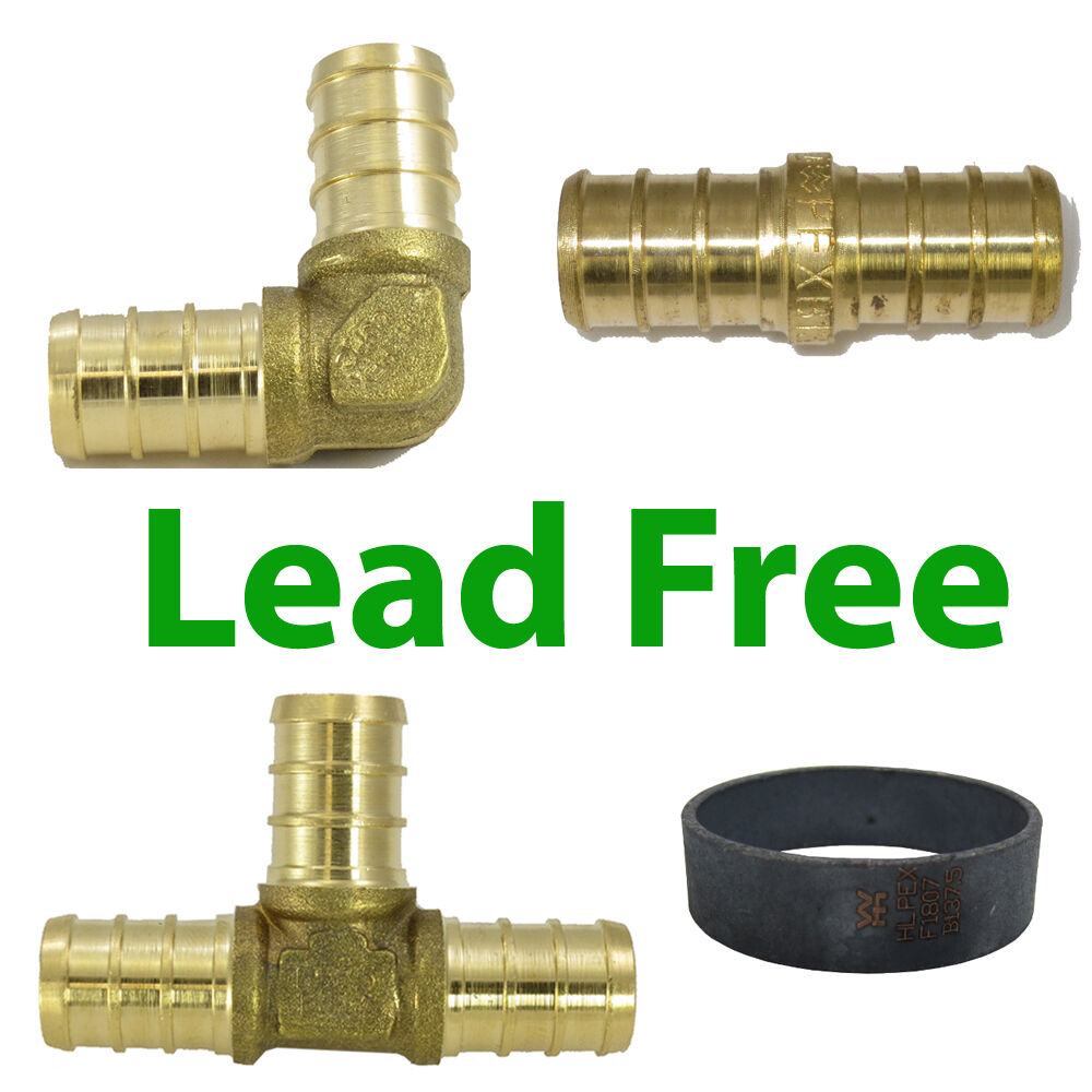 Lead free quot pex crimp fitting  copper