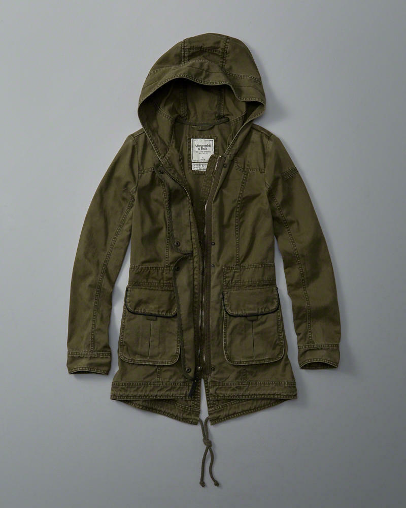 Abercrombie Fitch Accessories Abercrombie Fitch Womens: Abercrombie & Fitch Hollister Women's Fall Twill Parka