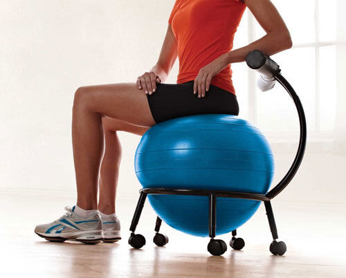 Ball Chair Fitness Ergonomic Custom Fit Balance Improves