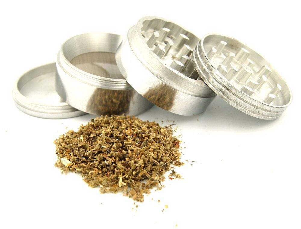 """Tobacco Grinder 4 PC Herb Spice Metal Crusher 1.5"""" Made"""