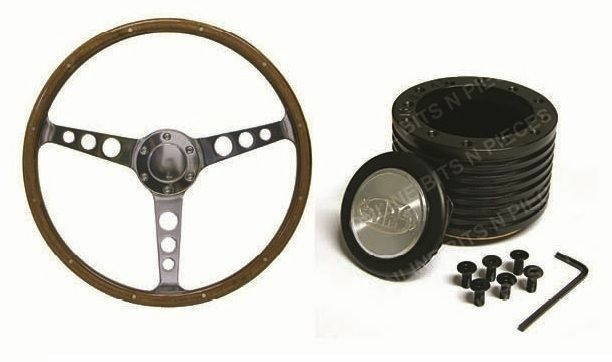 ford fairlane ltd saas classic steering wheel 365mm wood. Black Bedroom Furniture Sets. Home Design Ideas