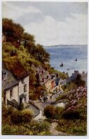 Clovelly, Devon, England Art Postcard by A R Quinton - View from Above