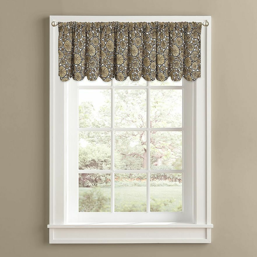 Firewood Logs Cabin Lodge Window Valance Modern Rustic