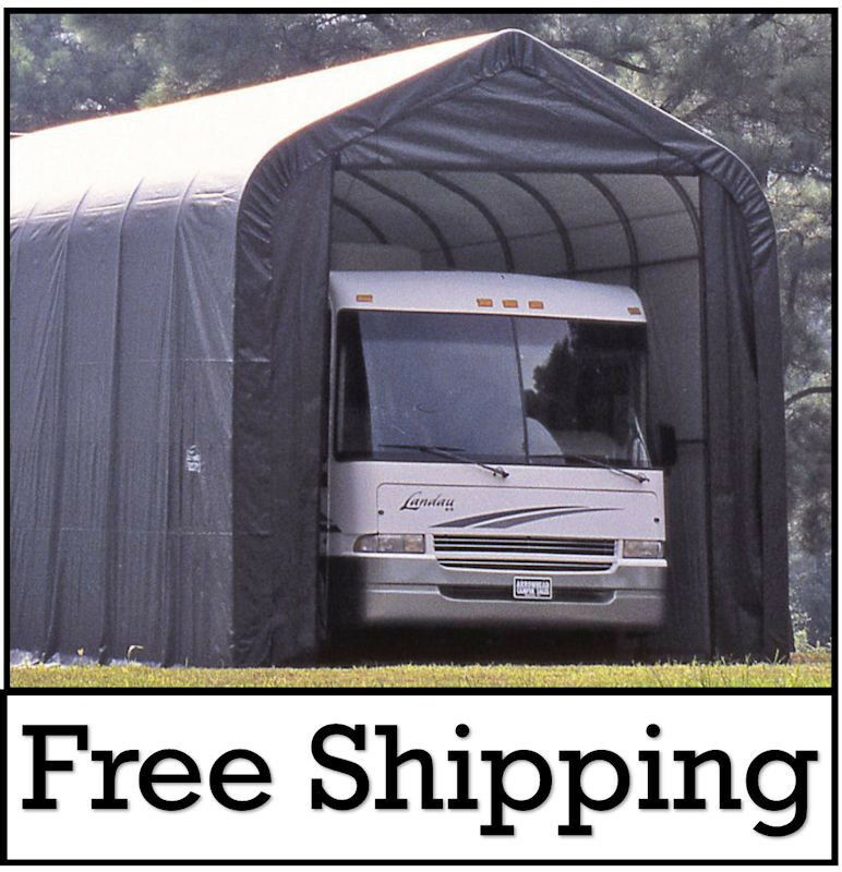 15x40x16 ShelterLogic MotorHome/RV Portable Garage Shelter ...