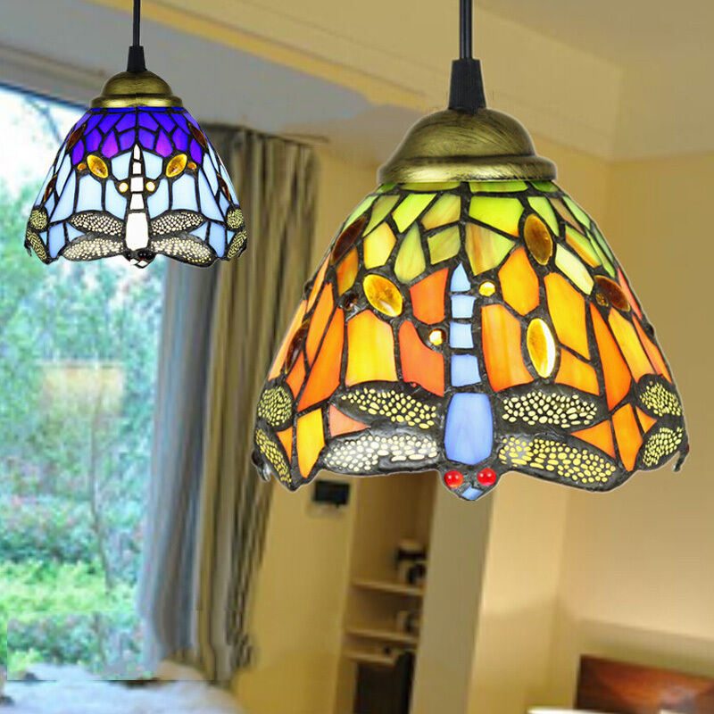 Stained Glass Tiffany Style Hanging Pendant Lamp Ceiling