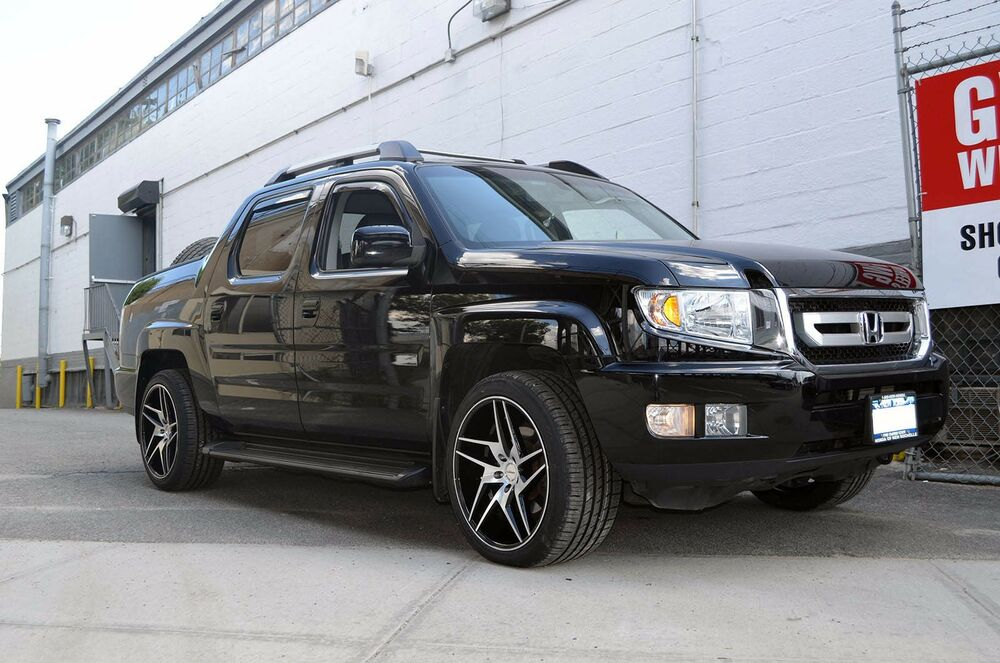 4 Gwg Wheels 20 Inch Staggered Black Razor Rims Fits Honda Ridgeline Ebay