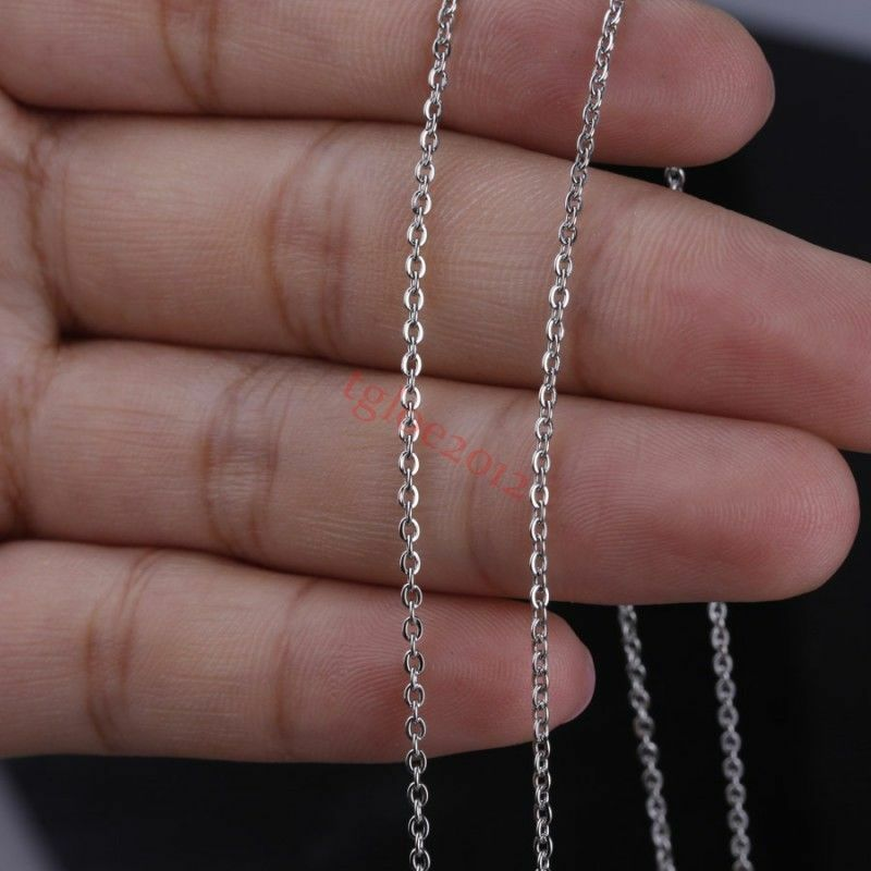 factory price stainless steel silver oval chain diy