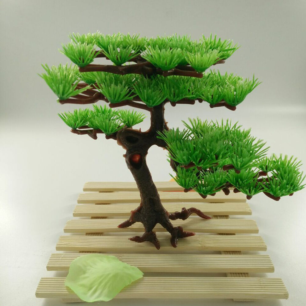 New water plant artificial plastic pine tree aquarium for Art for decoration and ornamentation