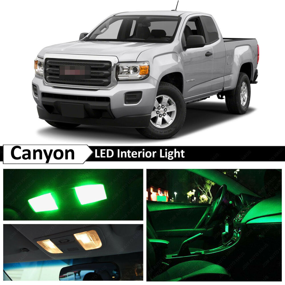Chevy Colorado Green >> 15x Green LED Light Interior Package Kit for 2015-2017 GMC Canyon | eBay