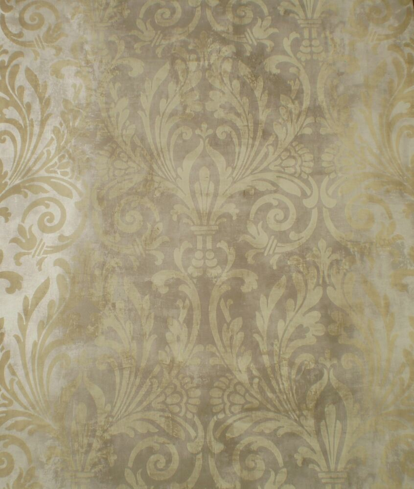 brown on brown damask wallpaper - photo #3
