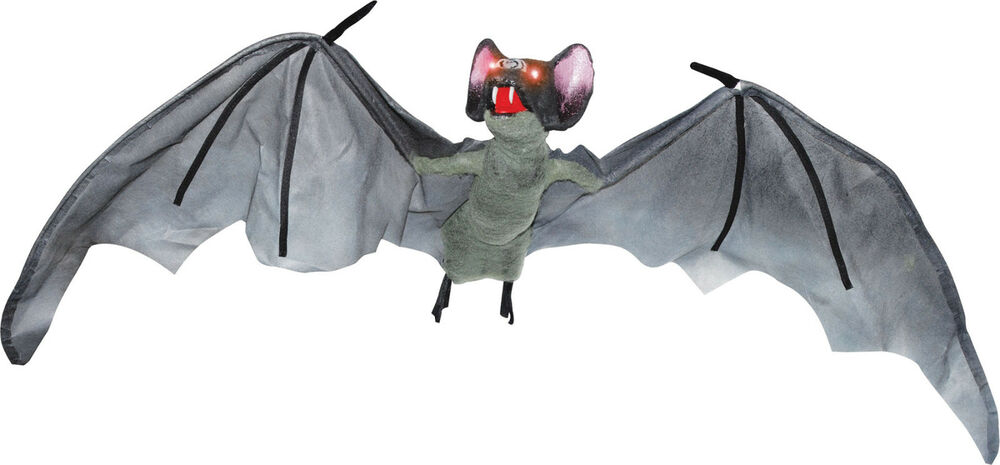 Halloween animated flying bat 59 vampire sounds haunted for Animated flying bat decoration