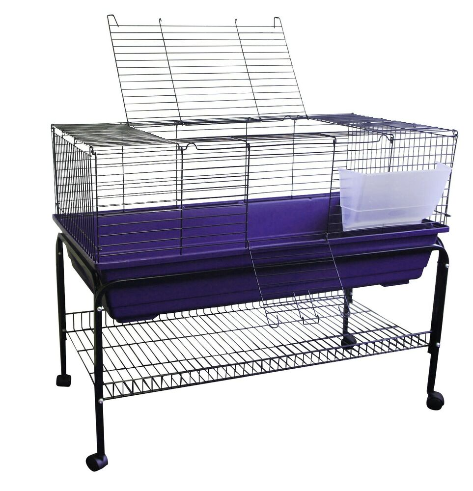 Heritage purple rabbit 100cm cage stand package kit for Guinea pig stand