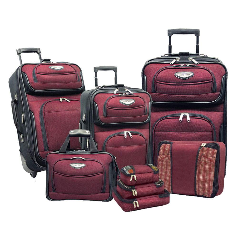 Travel Select Red Amsterdam 8pc Suitcase Tote Packing