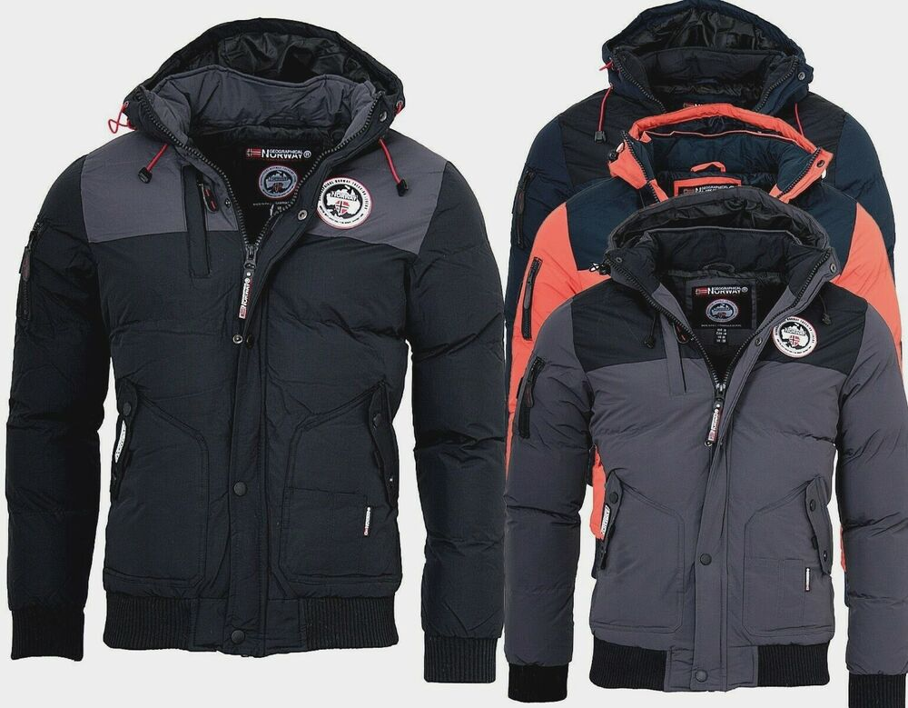 geographical norway herren winterjacke volva winter parka warm gef ttert jacke ebay. Black Bedroom Furniture Sets. Home Design Ideas