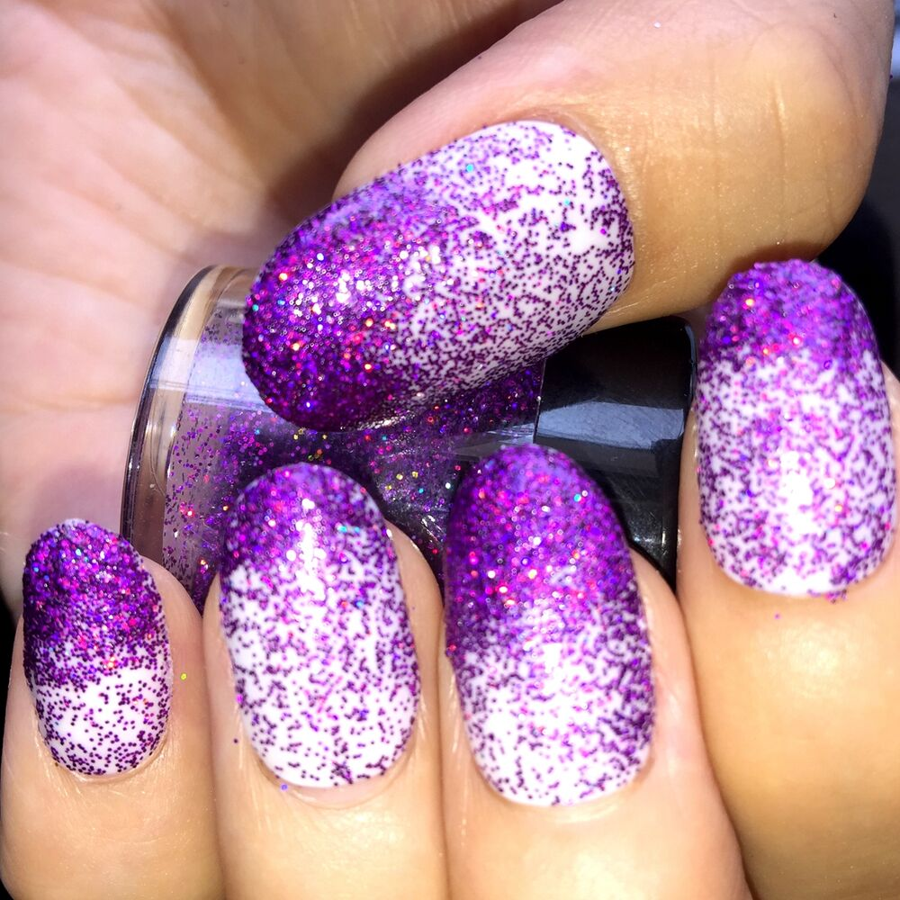 Holographic Glitter Powder Nail Art Decorations Design