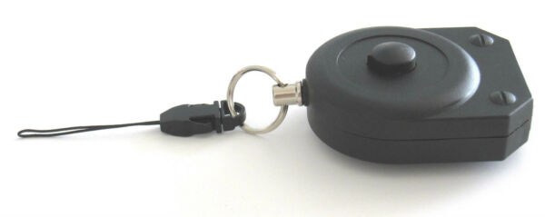 Premium Retractable Key Reel with Locking Mechanism and Hold Release button