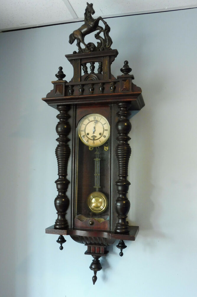 Classic Antique German Wall Clock Old Clock Vintage