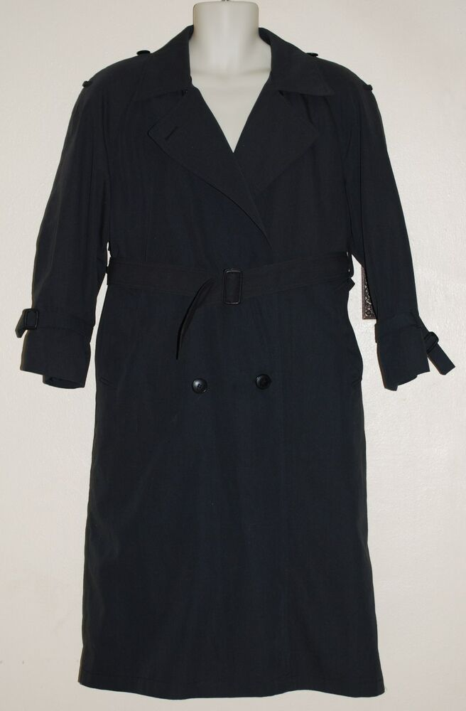 London fog trench coat with liner black charcoal gray for Liner diametre 4 50