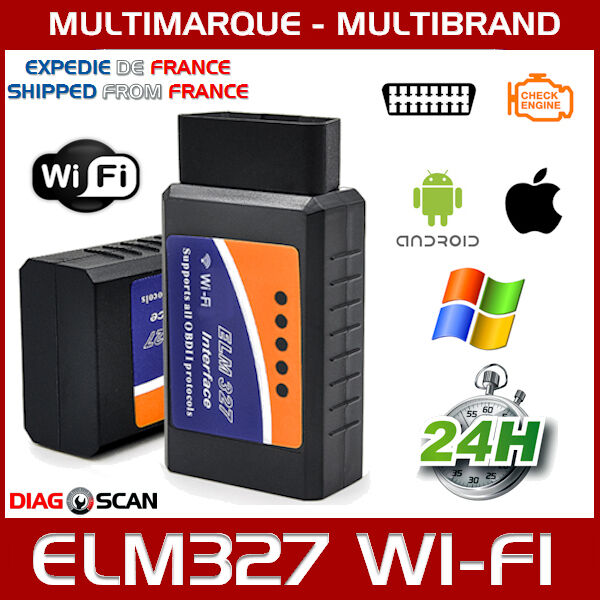elm327 wifi obd2 odb2 obdii interface diagnostique scanner ios android windows ebay. Black Bedroom Furniture Sets. Home Design Ideas