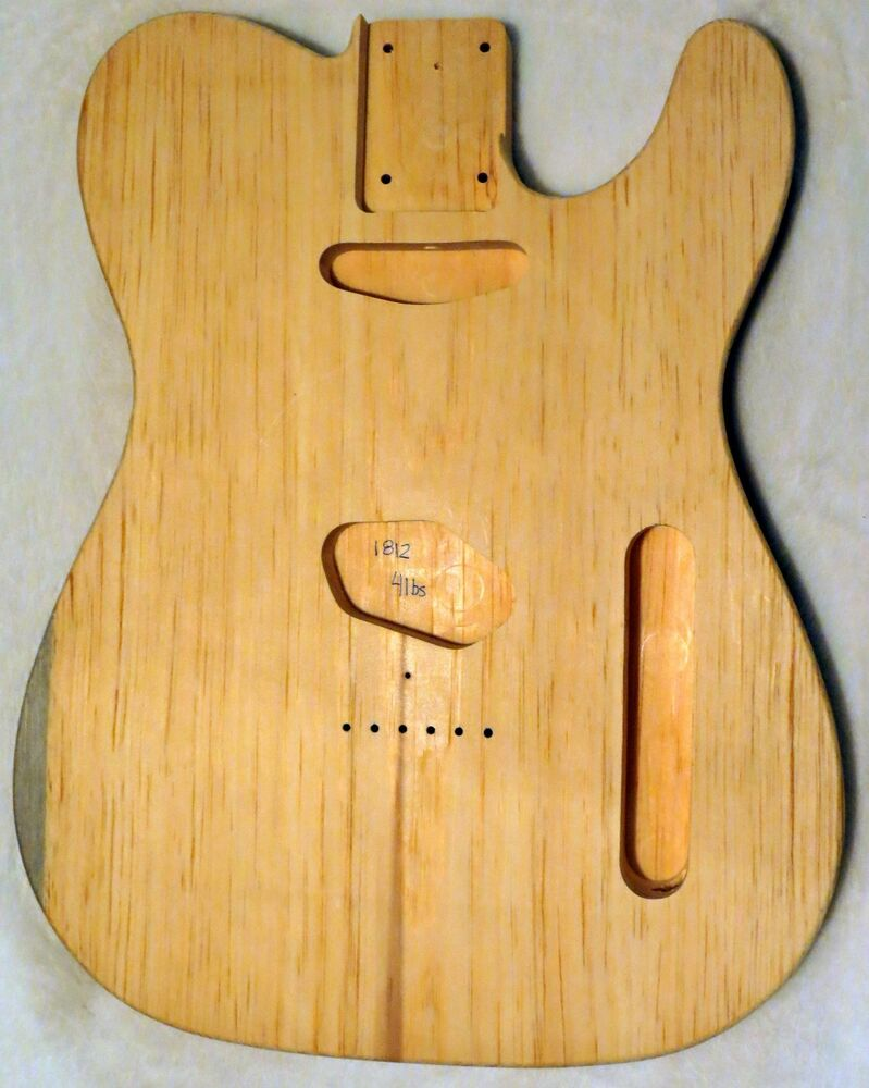 1 piece aged pine telecaster tele body 4lbs standard routing ebay. Black Bedroom Furniture Sets. Home Design Ideas